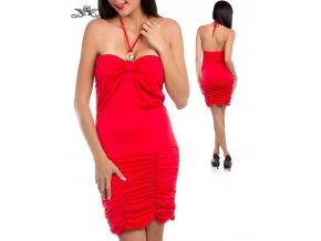 ULTIMATE dámské společenské červené šaty