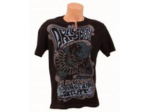 DKNY pánské tričko černé - A DANCE BAND