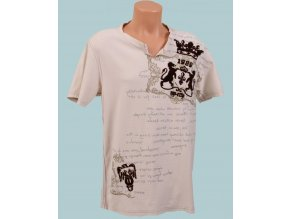 DKNY pánské tričko smetanové - potisk lvů