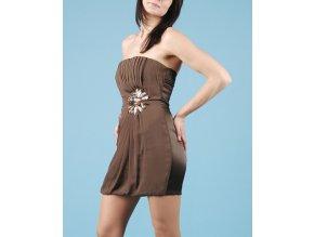 KUDU dámské šaty hnědé