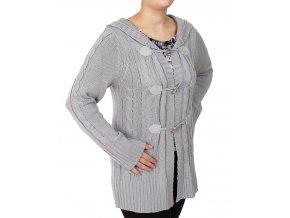 ALLEGRA dámský pletený svetr šedý