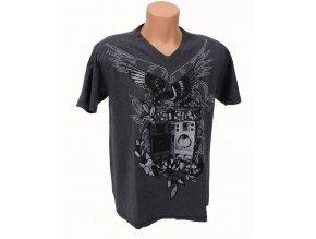 DKNY pánské tričko šedé s tribal vzorem