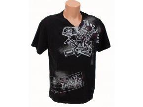 DKNY pánské tričko černé s tribal vzorem