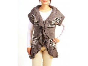 DEBUT dámská pletená vesta se vzorem