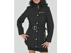 MISS SIXTY dámský kabát černý s kapucí