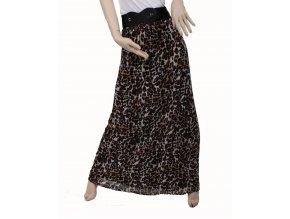 Marshmellow dámská sukně dlouhá hnědočerná