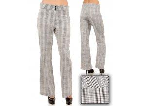 Tomorrow A F/S dámské kalhoty černobílé kárové