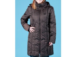 NAUTICA dámská bunda hnědá s odepínací kapucí