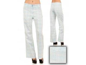 Tomorrow A F/S dámské kalhoty bílo modré kárové