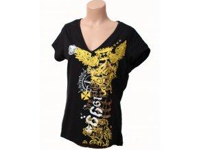 Rocawear dámske tričko černé s tribal vzorem