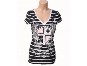 Deréon dámské tričko černobílé