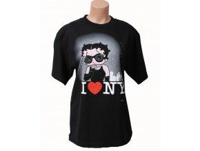I LOVE NY dámské tričko černé s Betty Boop