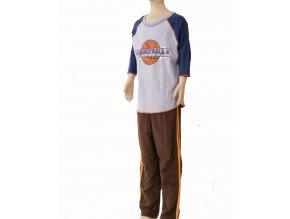 MIS TEE V-US dětská souprava, tričko s dlouhým rukávem a obrázkem basketbalového míče, kalhoty