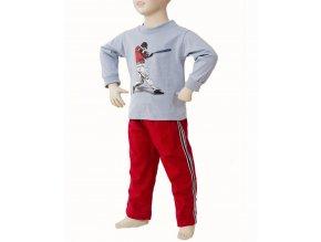 MIS TEE V-US dětská souprava, tričko s dlouhým rukávem a obrázkem baseballisty, kalhoty