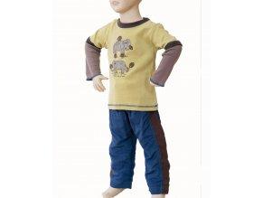 MIS TEE V-US dětská souprava, tričko s dlouhým rukávem s obrázkem slona, kalhoty