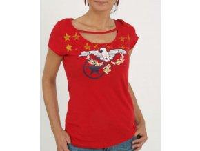 ROCAWEAR červené tričko se symboly USA