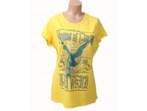 Rocawear dámske tričko žluté s tribal vzorem