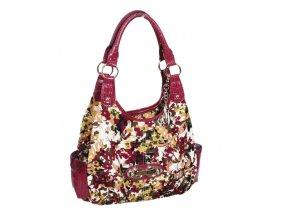 SIENNA RICCHI RACHEL dámská kabelka fialová květinová