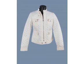 MONORENO dámská prošívaná bunda bílá
