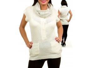 AMI SANZURI dámská vesta bílá s šálkou