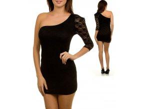 TRIPLE CHERRY dámské šaty krajkové černé