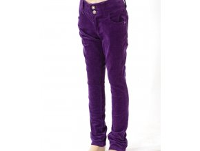 CHEROKEE dětské manšestrové kalhoty fialové
