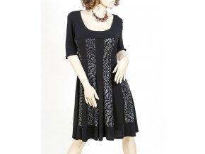 APPAREL dámské šaty černé s lesklými pruhy