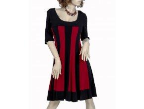 APPAREL dámské šaty černo-červené