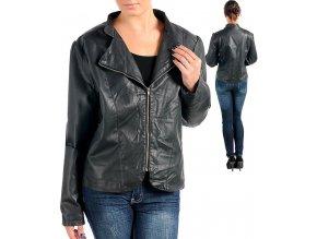 NEW DIRECTIONS dámská bunda černá - eko kůže