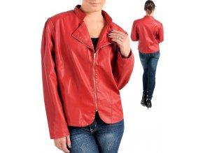NEW DIRECTIONS dámská bunda červená - eko kůže