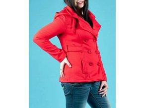 ZINGA dámské sako červené s kapucí