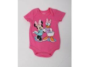 DISNEY dětské/dívčí body růžové s Daisy a Minnie