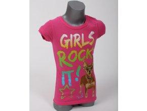 KOHL'S dětské/dívčí tričko růžové