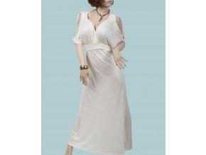Mulata U S A dámské letní šaty dlouhé smetanové