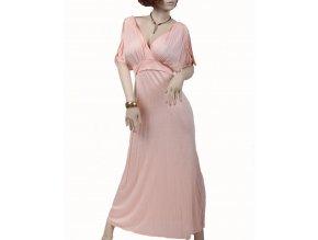 Mulata U S A dámské letní šaty dlouhé lososové