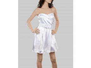 VIVA YOU U.S.A. dámské šaty bílé lesklé