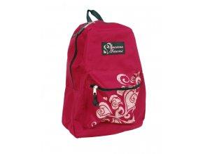 AMERICAN PRINCESS dětský batoh tmavě růžový s ornamentem