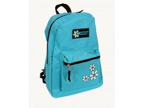 AMERICAN PRINCESS dětský batoh světle modrý s květinkami