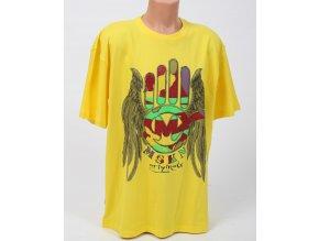 Miskeen pánské tričko žluté s logem