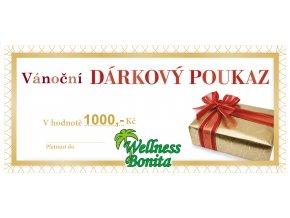 darkovy poukaz VANOCE1000