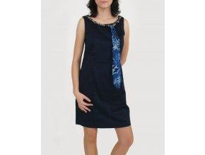 Studio AA dámské šaty modré s šálkou