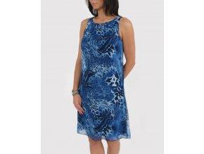 Studio AA dámské šaty modré leopardí