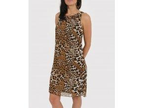 Studio AA dámské šaty hnědé leopardí