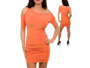 JFANY D USA dámské šaty oranžové meruňkové