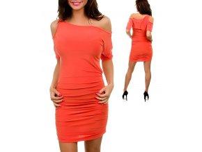JFANY D USA dámské šaty oranžové broskvové