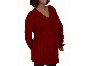GAP MATERNITY těhotenský svetr červený s copánkovým vzorem