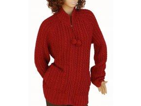 GAP MATERNITY těhotenský svetr tmavě červený s bambulkami