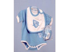 REEBOK Brooklyn basketball team NETS dětská kojenecká souprava, dupačky, brindáček a botičky