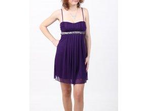 SWEET STORM dámské společenské šaty fialové