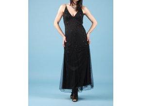 JUMP dámské dlouhé černé plesové šaty